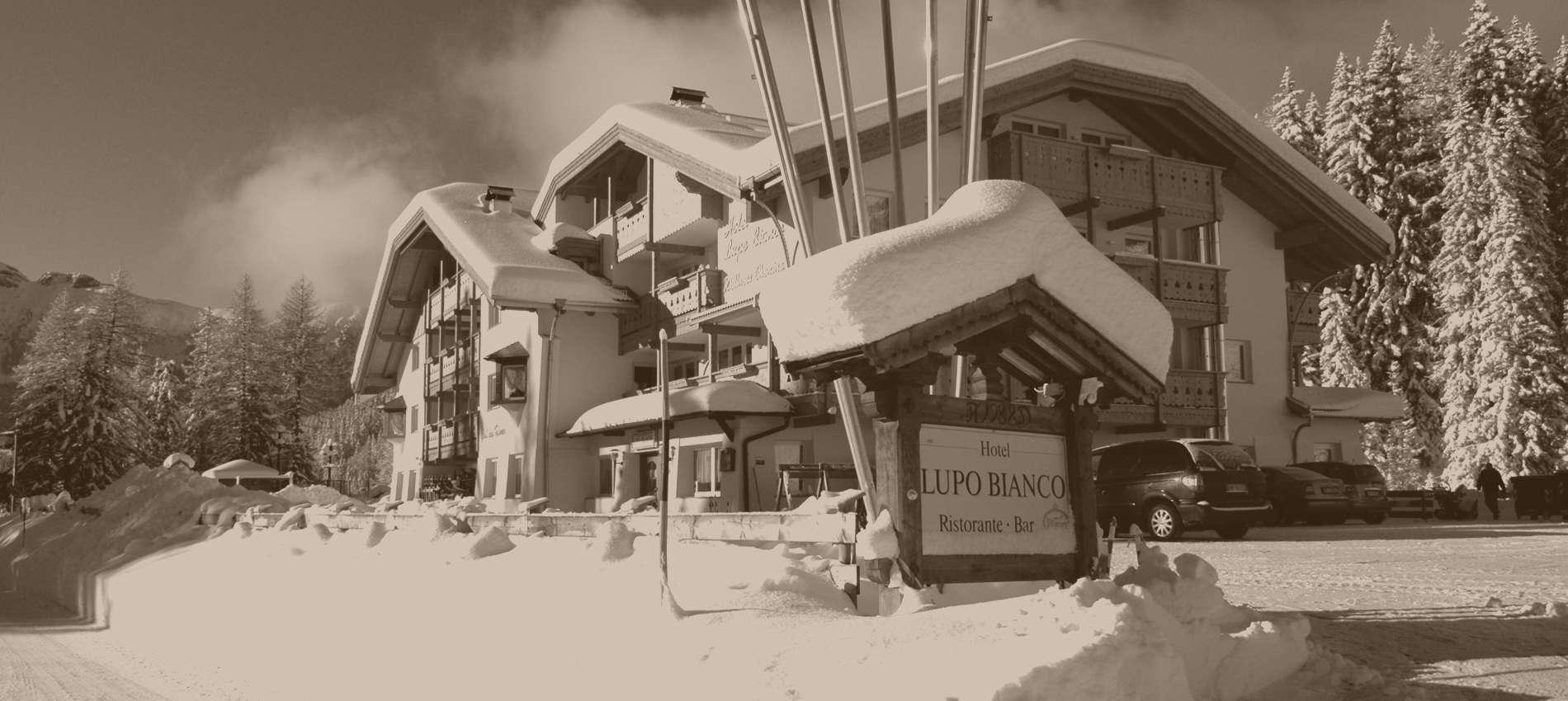 Hotel Lupo Bianco, Canazei: servizi completi e mezza pensione